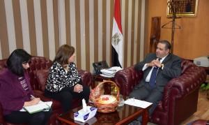 استقبال أشرف سالمان وزير الاستثمار لرئيس مجلس الأعمال المصري الهندي