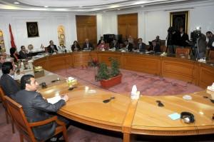 وزير الاسكان ورؤساء تحرير الصحف