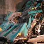 رفع آثار حادث مترو العباسية