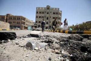 التحالف بقيادة السعودية يقصف العاصمة اليمنية