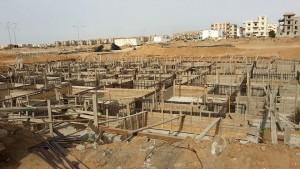 أساسات عمارات مشروع دار مصر بالعاشر من رمضان