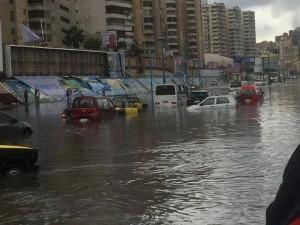 الأمطار والسيول فى الاسكندرية