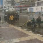 سيارات الاسكان لسحب مياه الامطار بالاسكندرية