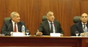 المؤتمر الصحفي الاول  لطارق  عامر في  البنك المركزي