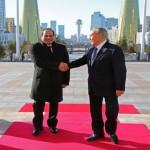 السيسي والرئيس الكازاخستاني