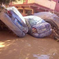 أثار تدمير السيول لمدينىة رأس غارب (13)