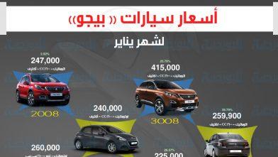 اسعار سيارات بيجو