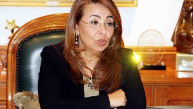 غادة والى وزيرة التضامن الاجتماعى (2)