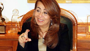 غادة والى وزيرة التضامن الاجتماعى (5)