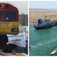 """""""التكاليف والقدرة الاستيعابية"""" للسفن تحبط منافسة قطار الصين لقناة السويس"""