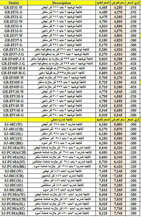 قوائم أسعار توشيبا العربى 22 فبراير 2017