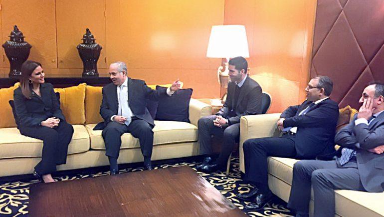 وزيرة الاستثمار تعقد  لقاءات مع رجال أعمال لبنانيين يستثمرون فى مصر
