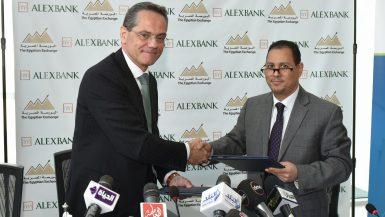 د.محمد عمران رئيس البورصة المصرية و دانتي كامبيوني الرئيس التنفيذي والعضو المنتدب لبنك الإسكندرية