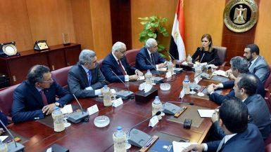 سحر نص تلتقى أعضاء مجلس الأعمال المصرى الأمريكى
