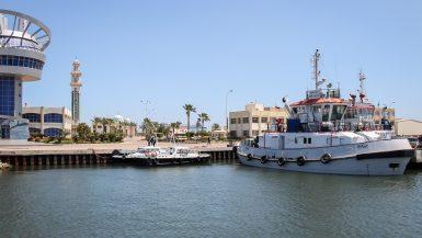 ميناء دمياط القاطرة ابراهيم