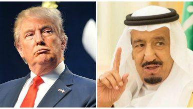 العاهل السعودى مع الرئيس الأمريكى فى القمة السعودية الأمريكية