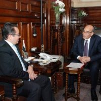 وزير الرزاعة وسفير كازاخستان