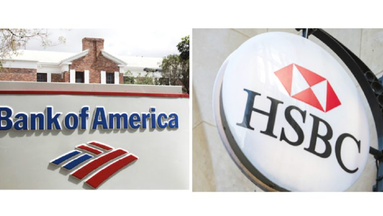 أوف أمريكا و HSBC
