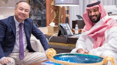 Tokyo, September 03 (QNA) - Saudi Deputy Crown Prince Second Deputy Premier and Minister of Defense Mohammed bin Salman bin Abdulaziz,  here  with founder, chairman of the board of directors and chief executive officer of SoftBank Group Masayoshi Son.