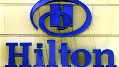 شعار فنادق هيلتون العالمية في صورة أرشيفية. رويترز