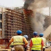 حريق المتحف المصرى الكبير