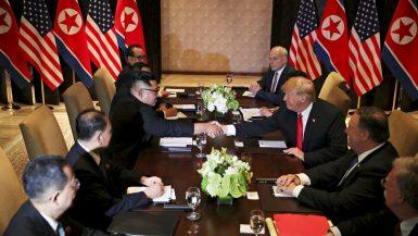 ترامب و كيم جونغ أون