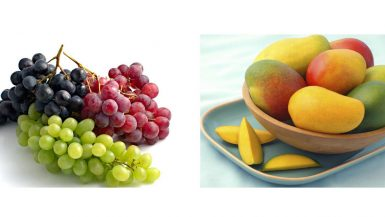 العنب و المانجو