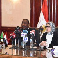 وزيرة الصحة المصرية ونظيرها السودانى