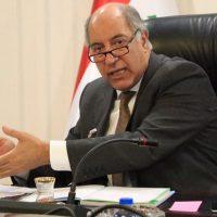 وزير الموارد المائية العراقي حسن الجنابي