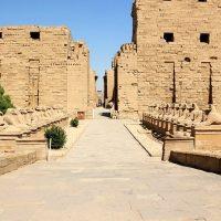 معبد الكرنك ؛ طريق الكباش ؛ الآثار