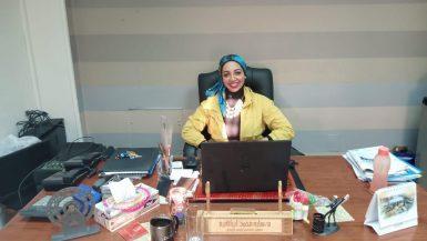 سارة إبراهيم معاون رئيس جهاز مدينة الشيخ زايد