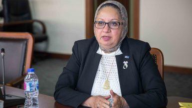 نادية حسنى عضو لجنة التنمية المستدامة بلجنة اتحاد البنوك