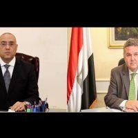هشام توفيق وزير قطاع الأعمال و عاصم الجزار وزير الإسكان