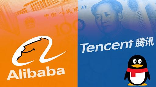 شركات التكنولوجيا الصينية ؛ على بابا ؛ تينسنت