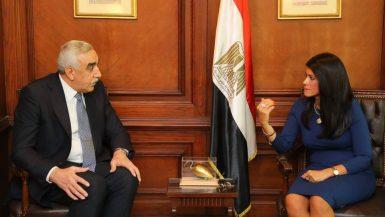 وزيرة التعاون الدولى تبحث ترتيبات انعقاد اللجنة العليا المشتركة مع سفير العراق