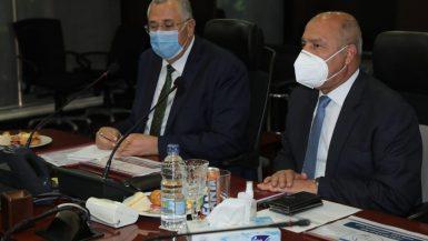 وزير النقل كامل الوزير و السيد القصير وزير الزراعة واستصلاح الأراضي