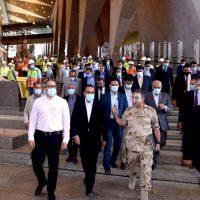 مصطفى مدبولى رئيس مجلس الوزراء يتفقد المتحف المصرى الكبير