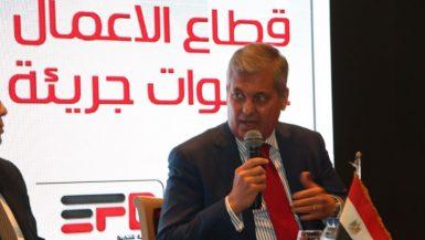 هشام أبو العطا رئيس مجلس إدارة الشركة القابضة للتشييد والتعمير